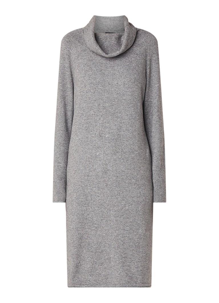 Marc O'Polo Fijngebreide jurk met coltrui middengrijs