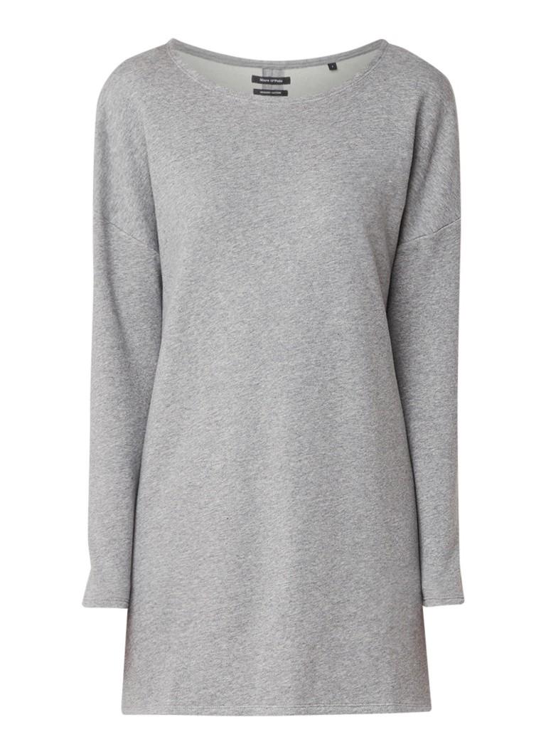 Marc O'Polo Stormy Sky longline sweater met splits