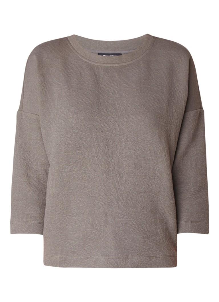 Marc O'Polo Sweater met structuur en ritsdetail
