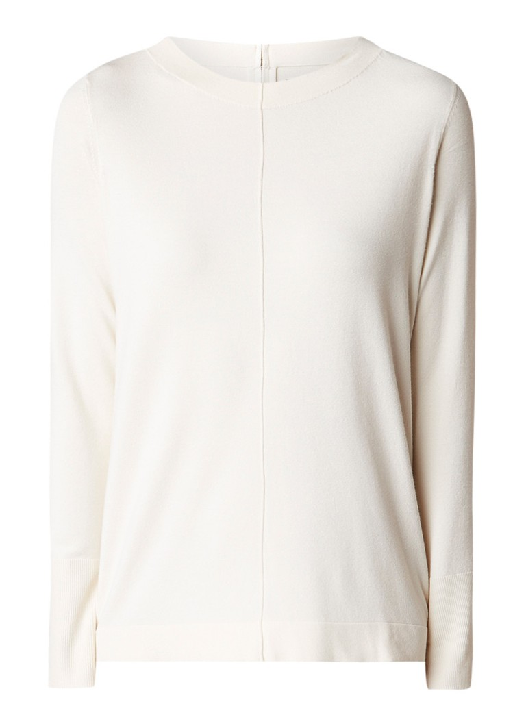 Marc O'Polo Loose fit pullover met ritsdetail
