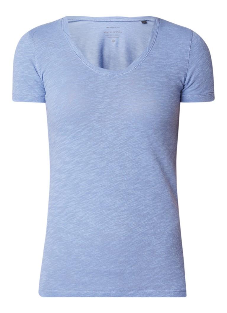 Marc O'Polo Basic T-shirt van katoen