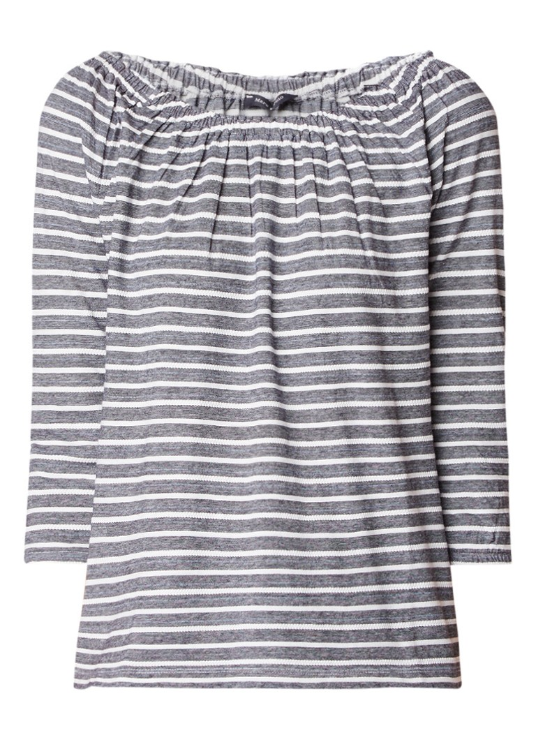 Marc O'Polo Off shoulder top met streepdessin