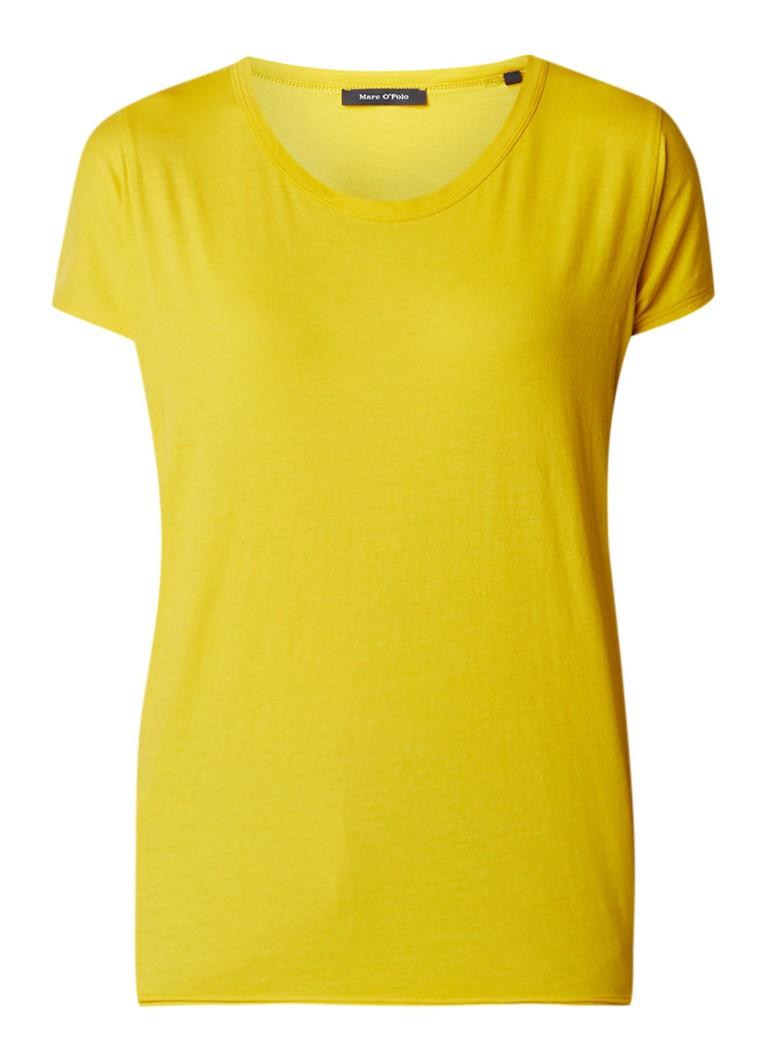 Marc O'Polo T-shirt van katoen met ronde hals