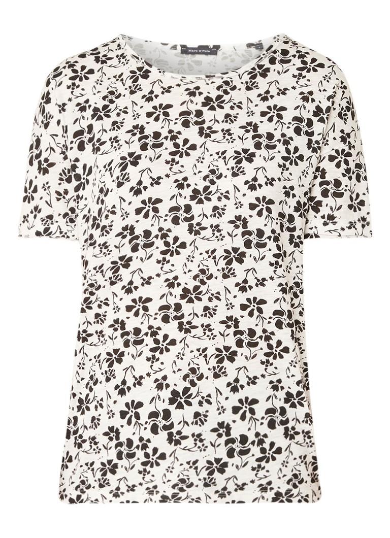 Marc O'Polo T-shirt van katoen met bloemendessin
