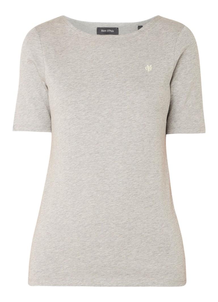 Marc O'Polo Gemêleerd T-shirt met logoborduring