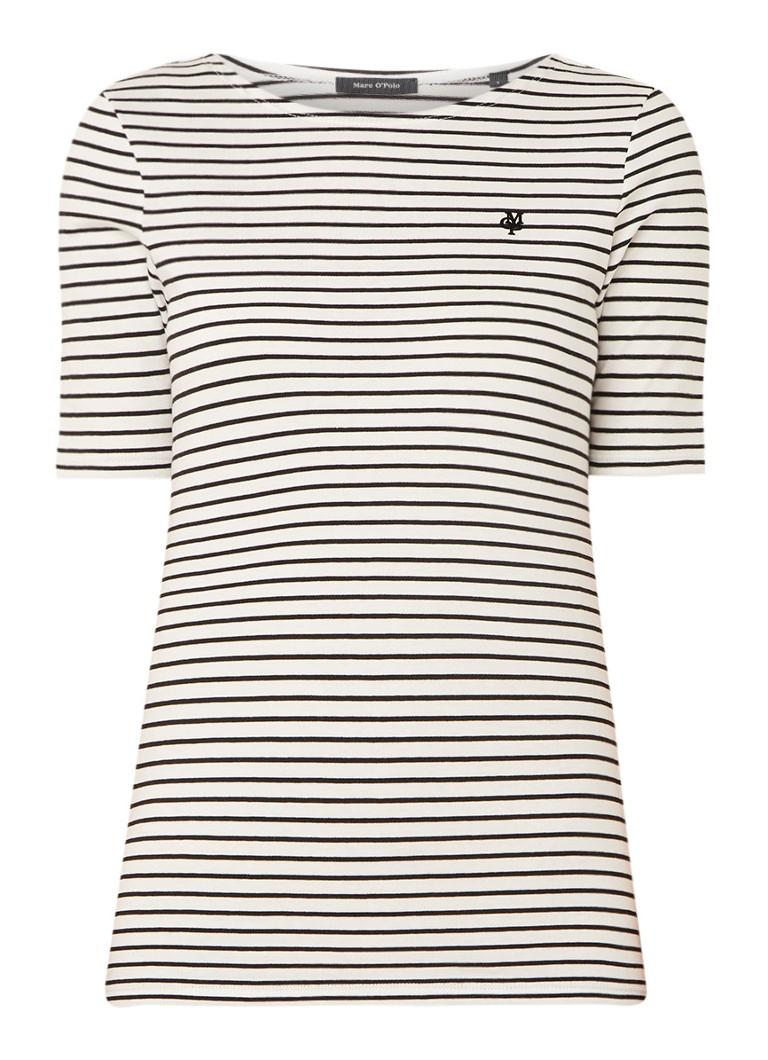 Marc O'Polo T-shirt van katoen met streepdessin