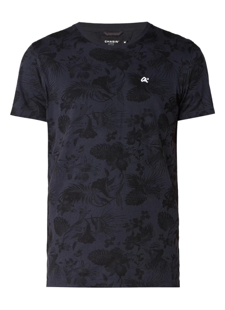 Chasin Ryan T-shirt met ronde hals en gebloemd dessin