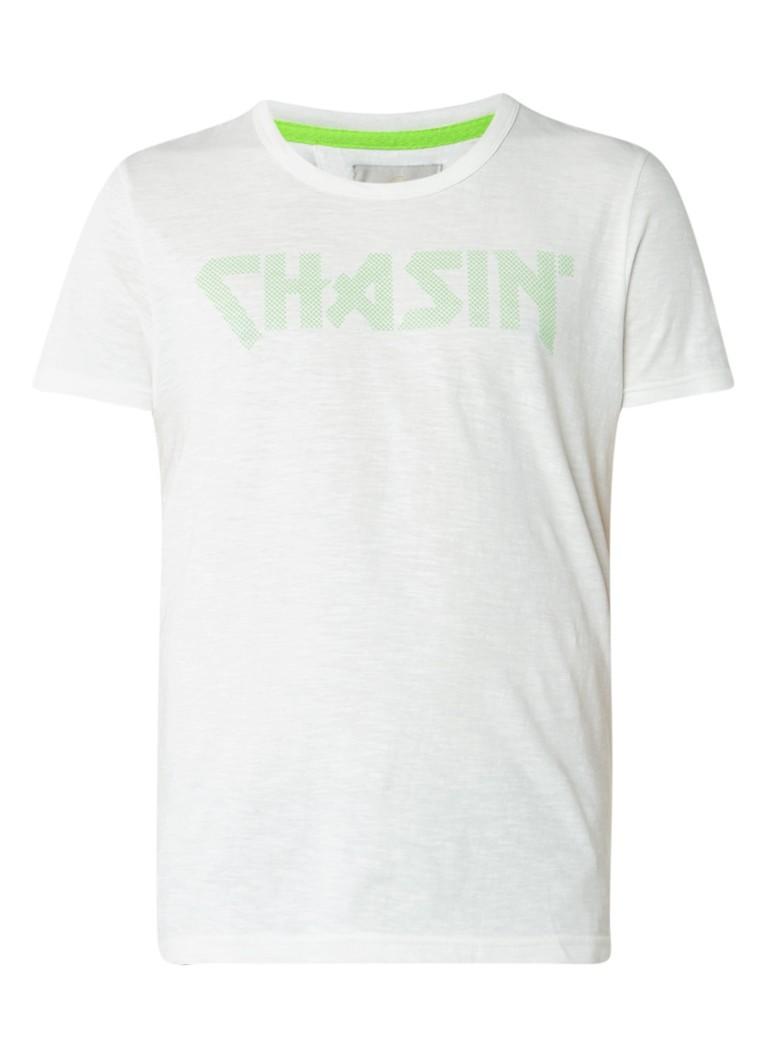 Chasin Marvin T-shirt met ronde hals en logoprint