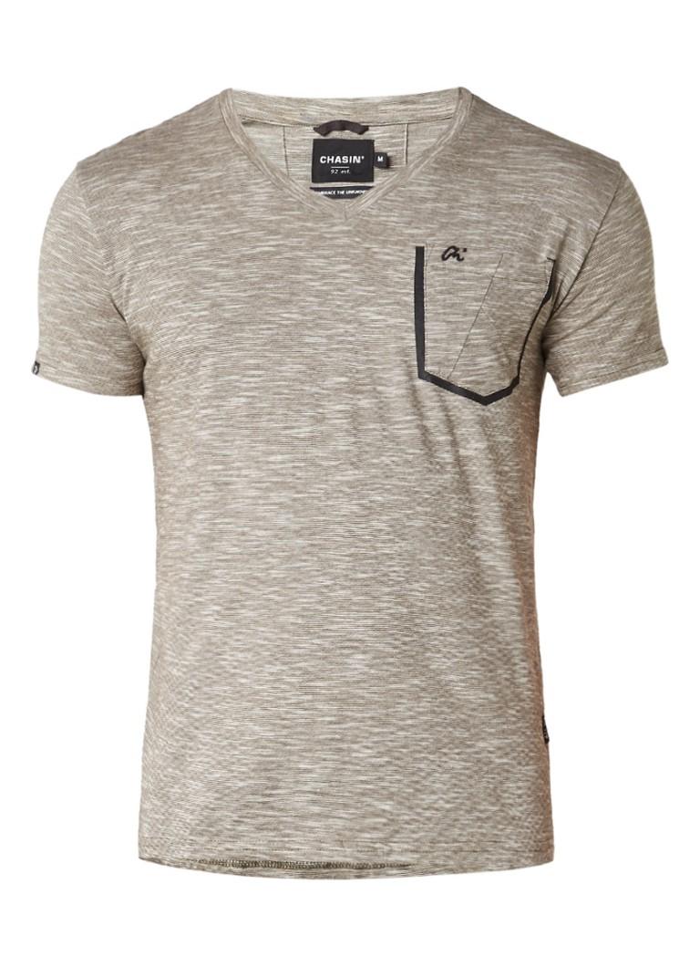 Chasin Today Plus T-shirt met gemêleerd streepdessin