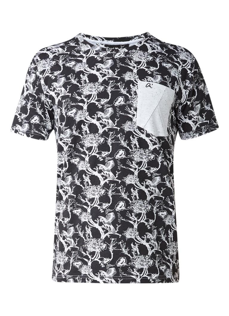Chasin Botan T-shirt met all-over print en borstzak