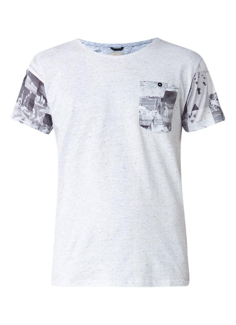 Chasin Partial T-shirt in katoenblend met borstzak