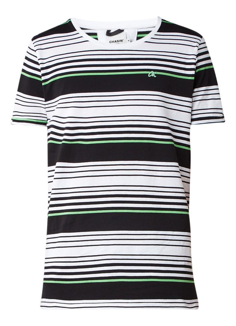 Chasin Cole T-shirt van katoen met streepdessin