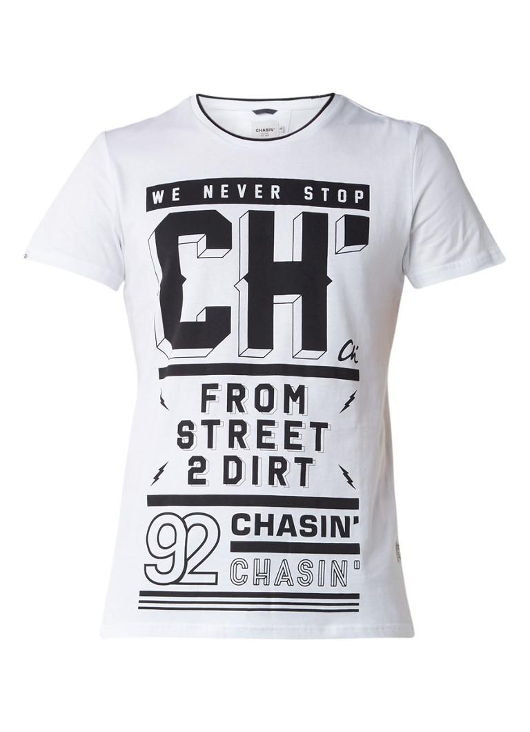 Chasin Kendrick T-shirt met tekstprint