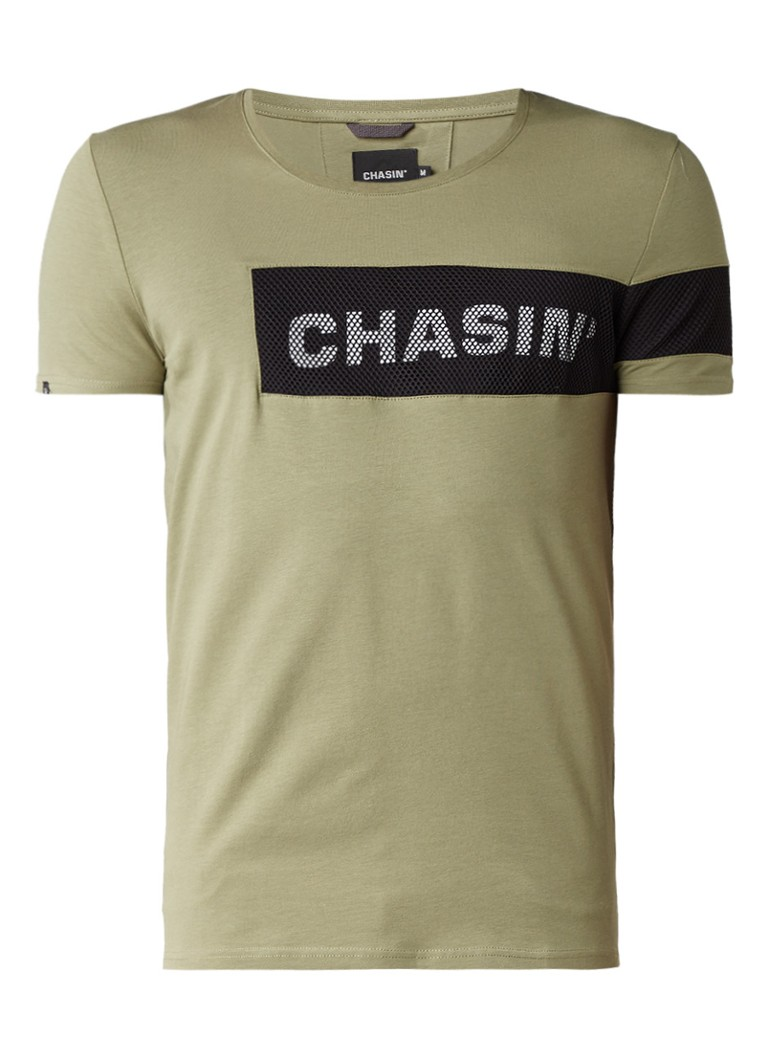 Chasin Rida T-shirt met logoprint en mesh
