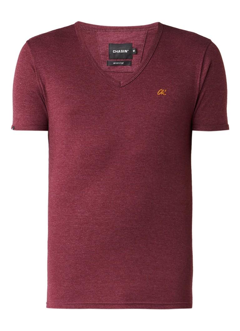 Chasin Cave-C T-shirt met V-hals