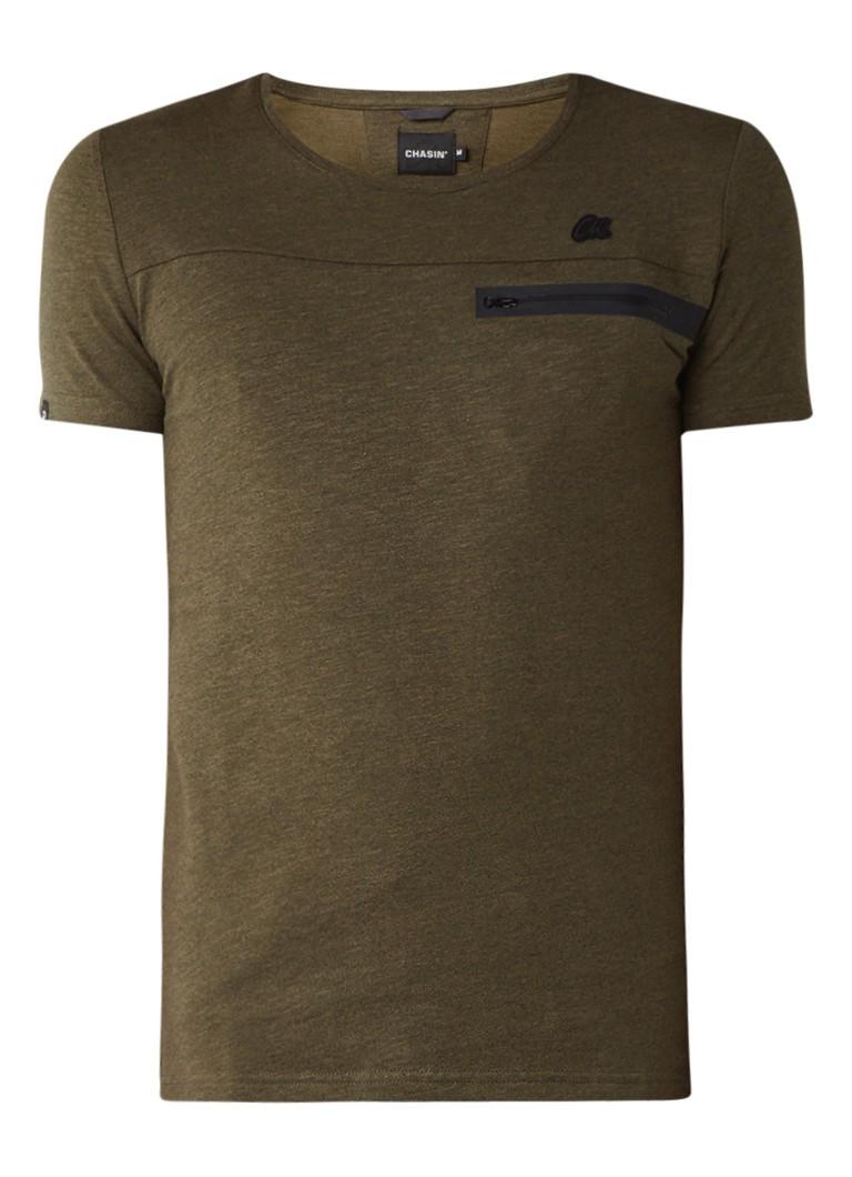Chasin Game T-shirt met borstzak en logo-applicatie