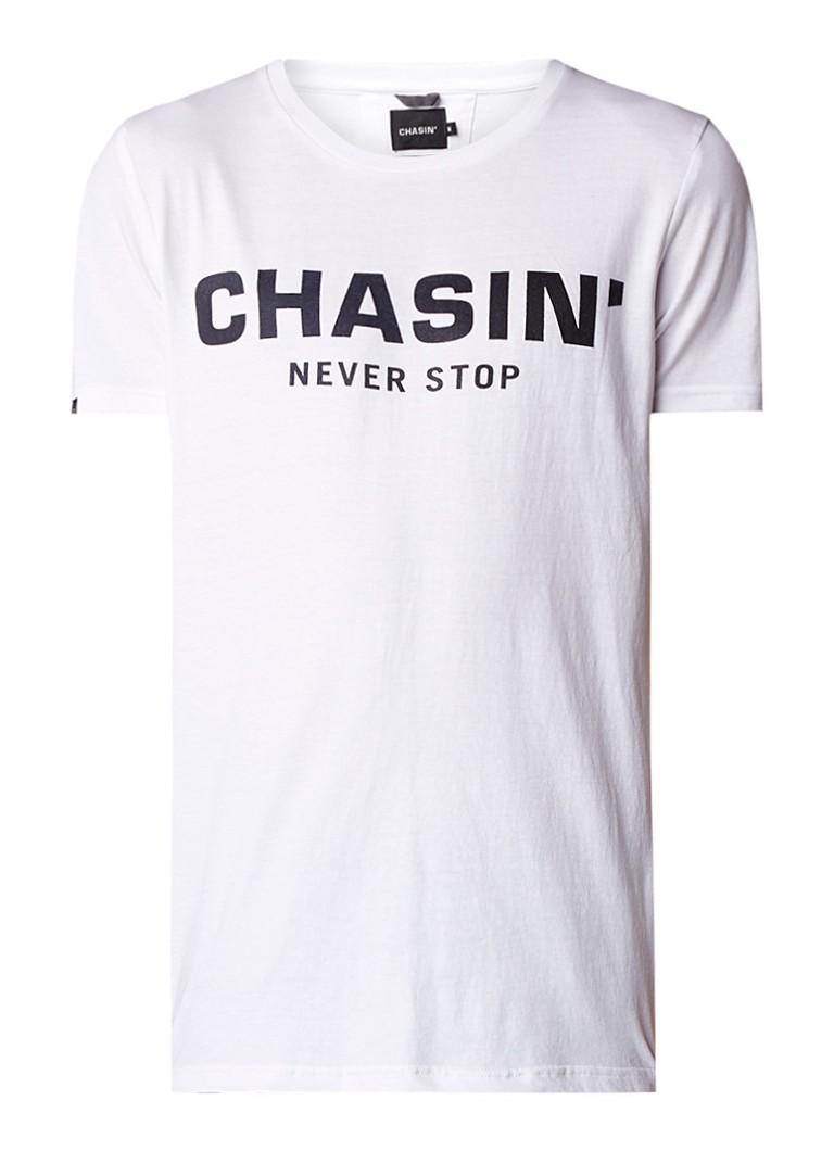 Chasin Duell T-shirt met logoprint