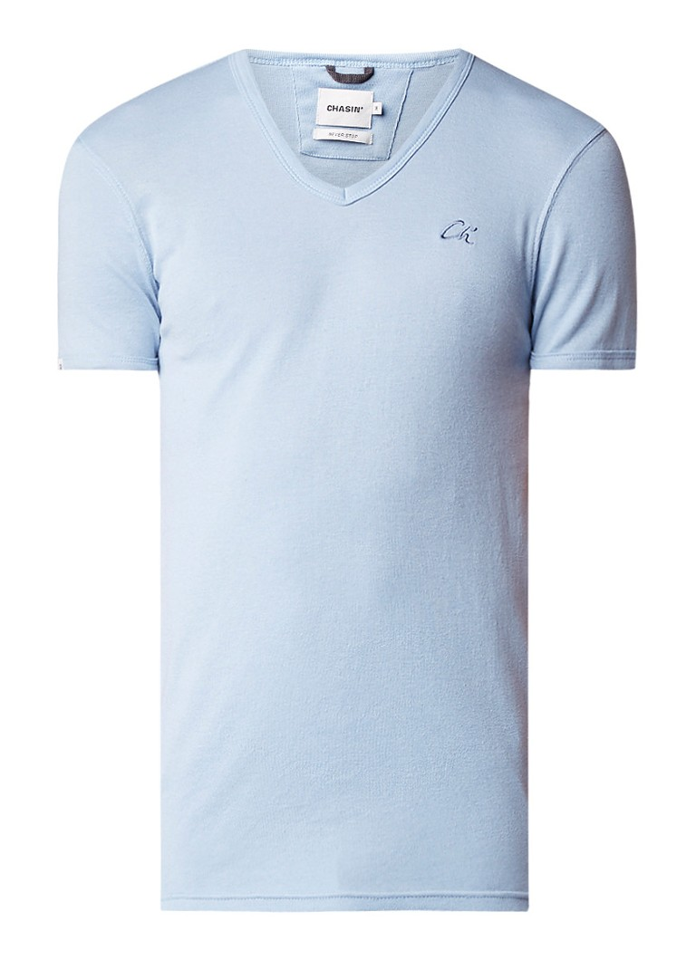 Chasin Cave-C T-shirt met logoborduring