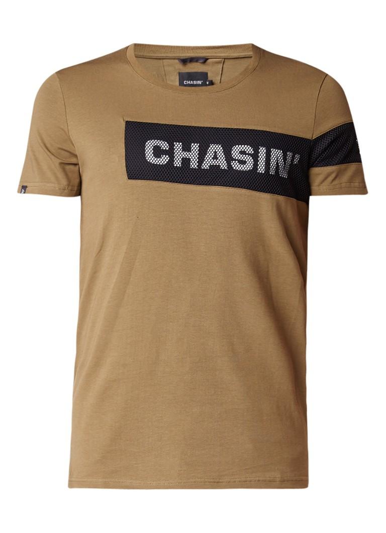 Chasin Rida T-shirt met mesh detail
