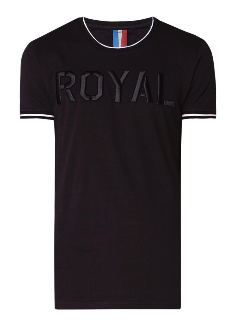 Chasin Duncan T-shirt met tekstborduring