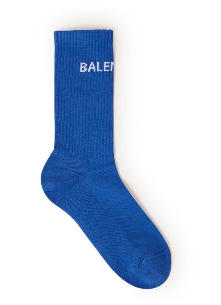 Balenciaga Sokken met logo blue
