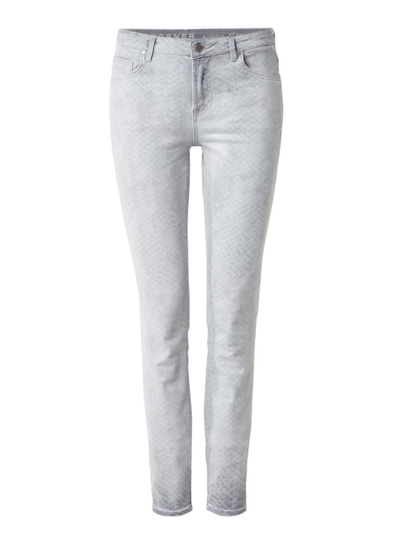Rosner Antonia mid rise skinny jeans met faded slangenprint
