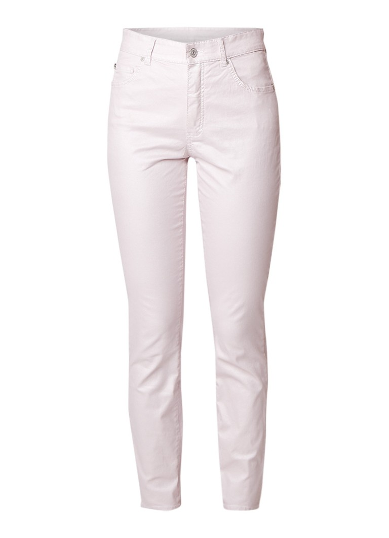 Rosner Audrey high rise straight fit jeans met coating