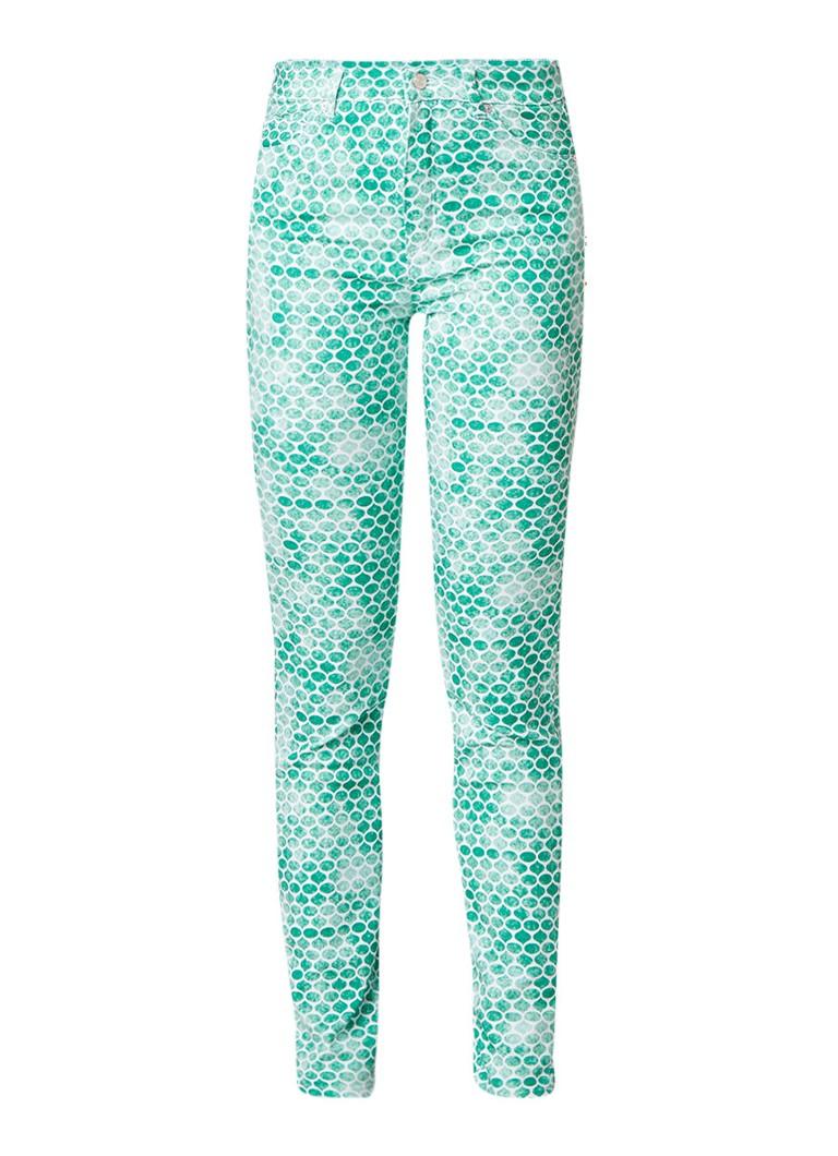 Rosner Audrey high rise slim fit jeans met grafisch dessin