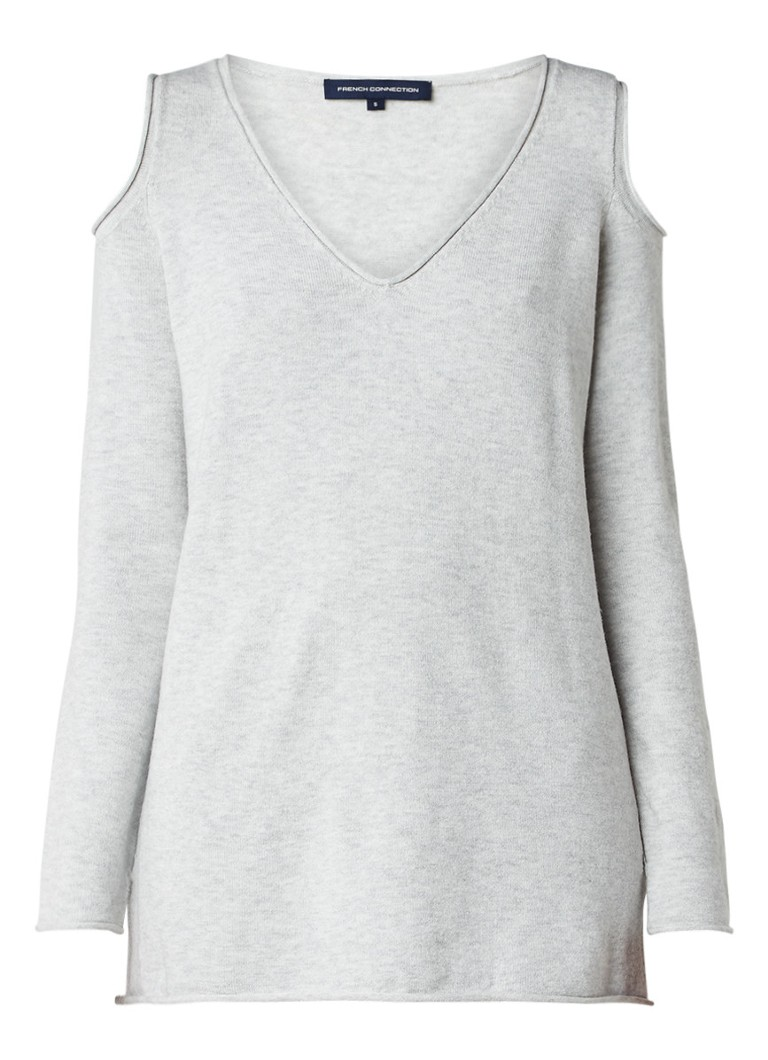 French Connection Venture cold shoulder pullover in wolblend grijs