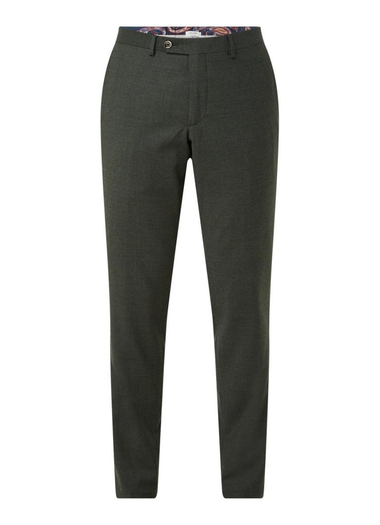 Van Gils Bailey split slim fit pantalon van wol