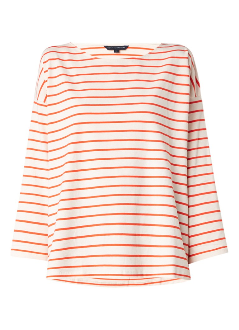 French Connection Spring relaxed fit top met streepdessin grijs