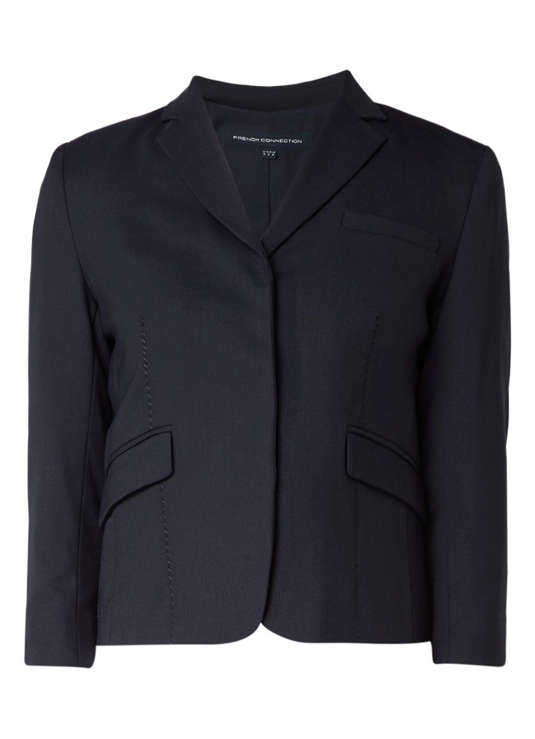 French Connection Talulah korte fitted blazer in wolblend grijs