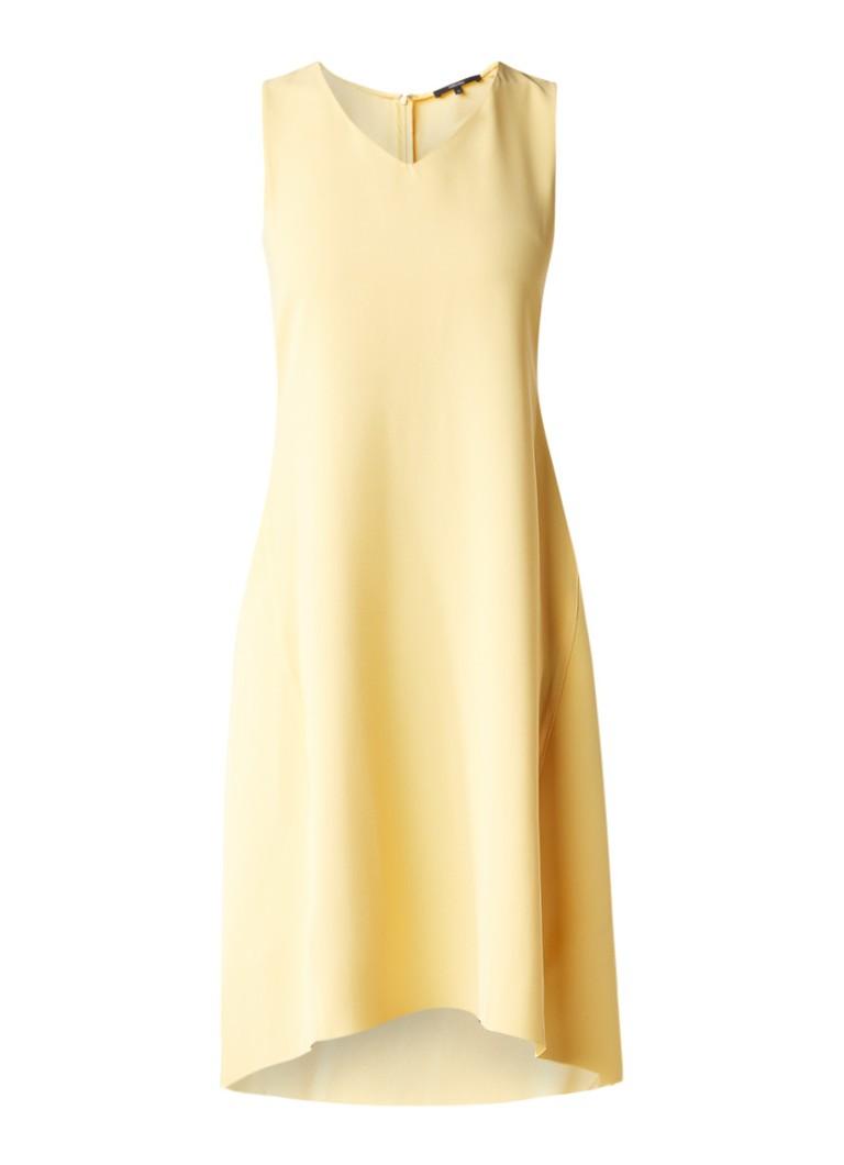 Someday Qitje asymmetrische tuniekjurk met V-hals geel