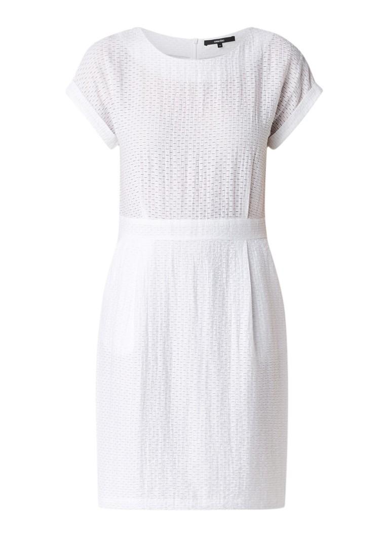 Someday Qence getailleerde jurk met ingeweven structuur wit