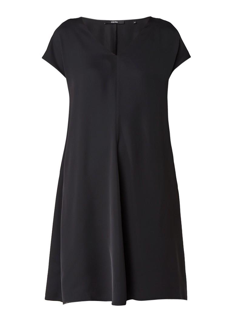 Someday Qaskiya jurk met V-hals zwart