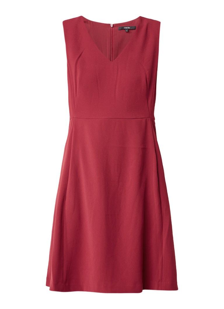 Someday Quade mouwloze A-lijn jurk donkerrood