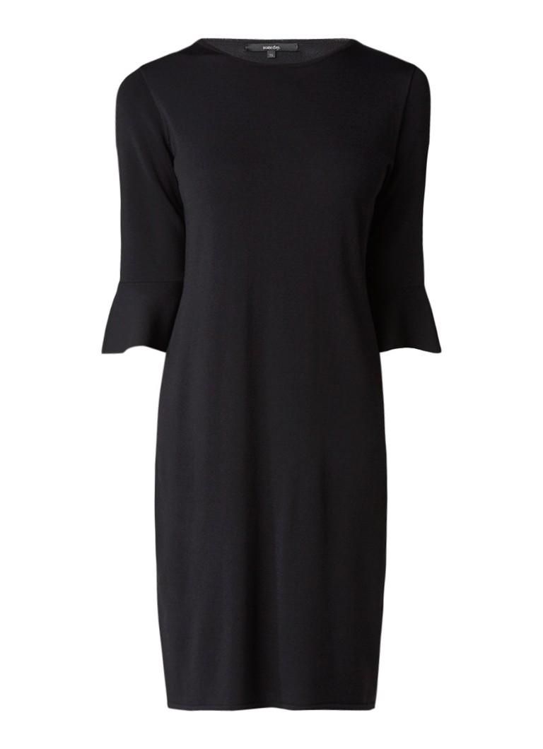Someday Quintalina midi-jurk met volantmouw zwart