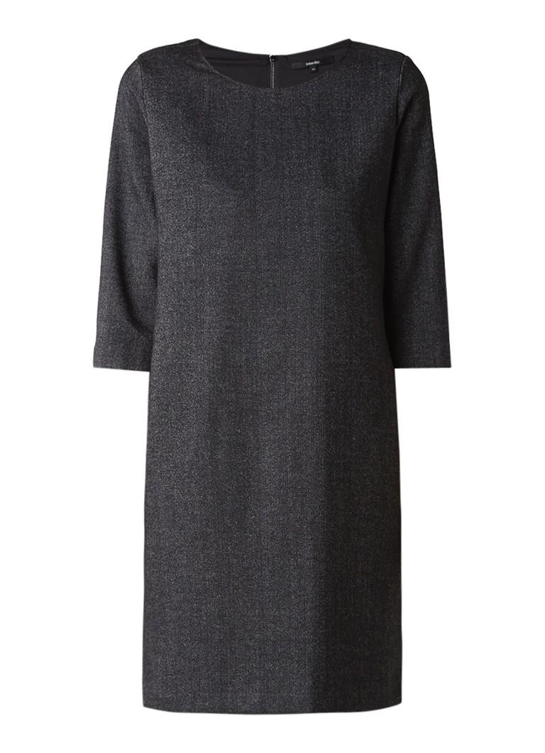 Someday Quenna midi-jurk met driekwartsmouw antraciet