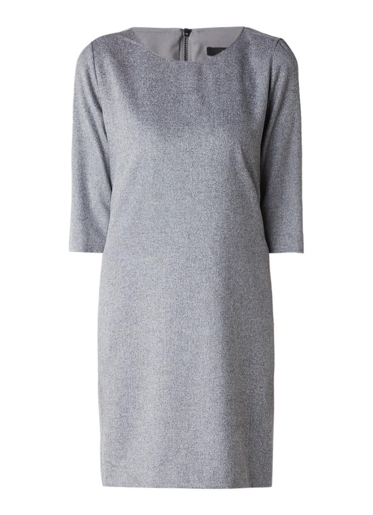 Someday Quenna midi-jurk met driekwartsmouw grijsmele