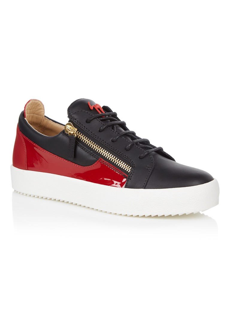 Giuseppe Zanotti May London low top sneaker met lakleer