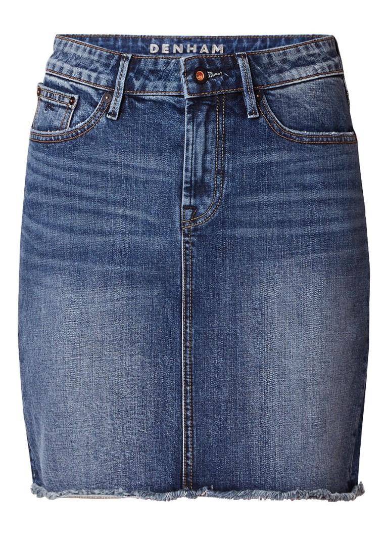 Denham Monroe rok van denim met gerafelde zoom