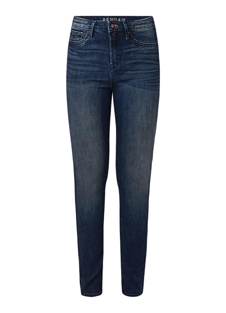 Denham Needle high rise skinny fit jeans met verwassen look