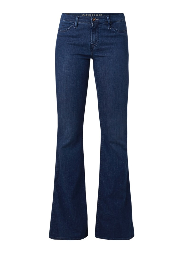 Denham Farrah low rise flared jeans met glitters