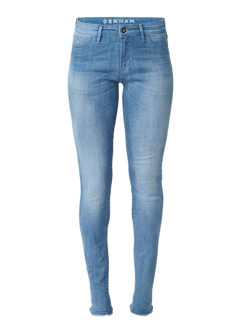 Denham Spray super tight fit jeans met faded look