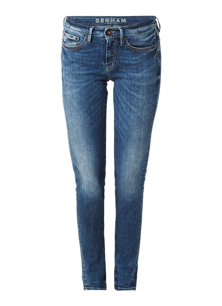 Denham Sharp low waist skinny jeans met donkere wassing