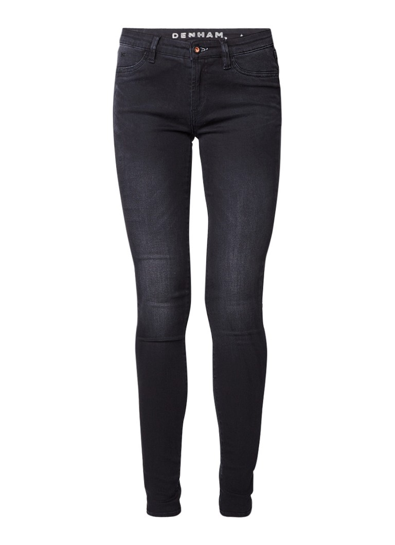 Denham Spray mid rise jeans met faded look