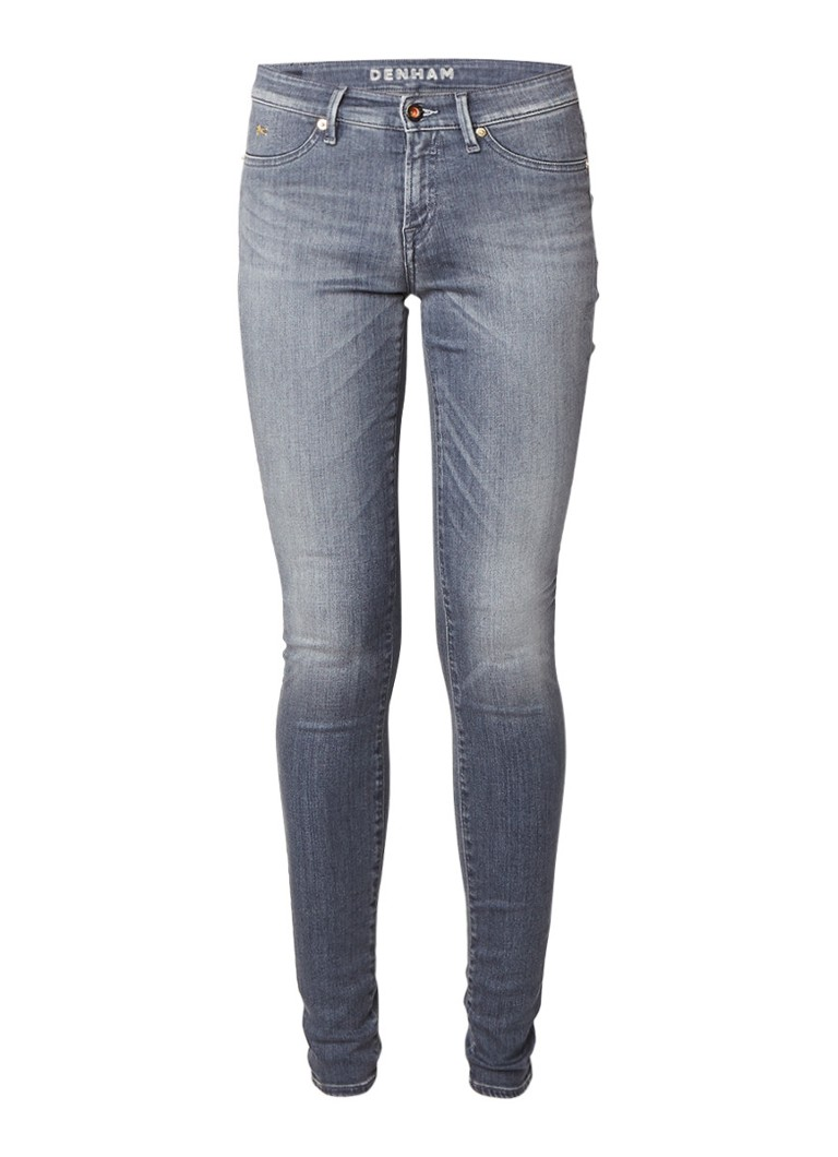 Denham Spray mid rise skinny jeans met faded look