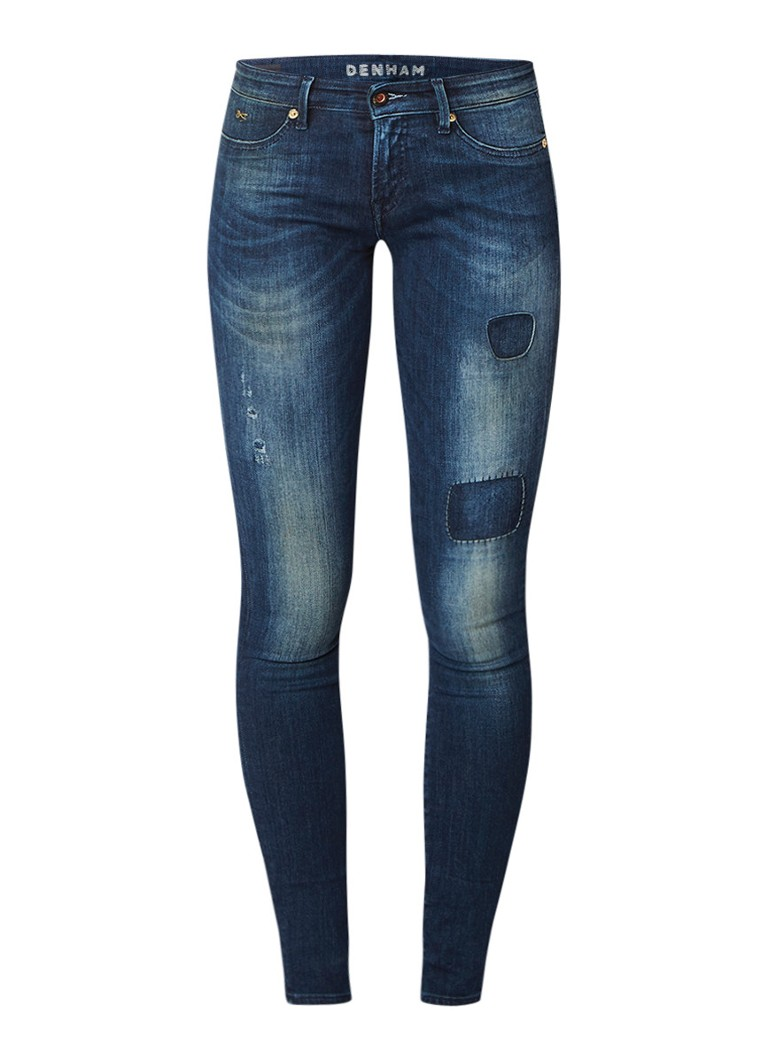 Denham Spray Super Tight Fit skinny jeans met repaired look