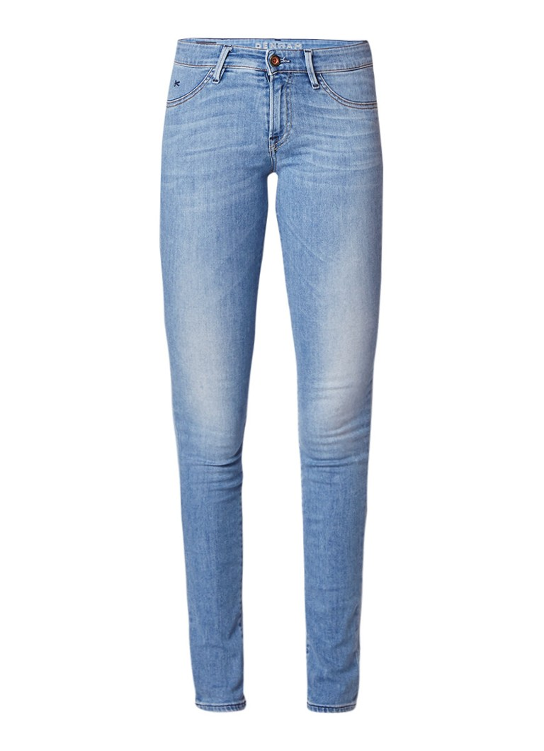 Denham Spray low rise skinny jeans met faded look