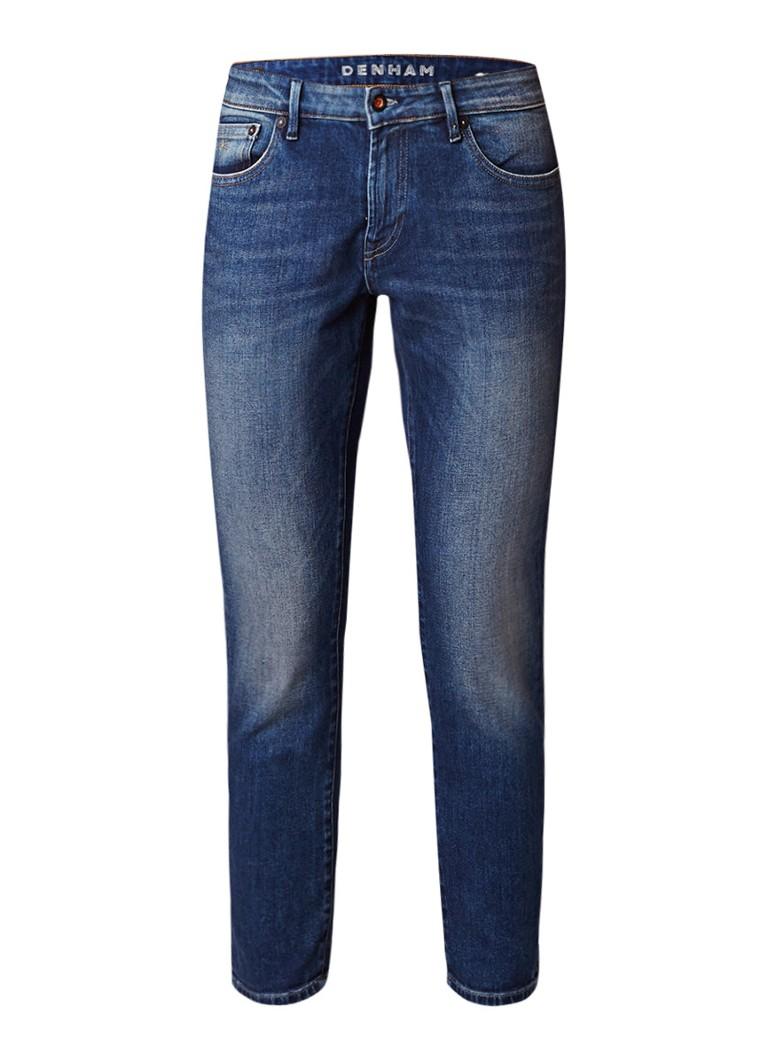 Denham Monroe cropped slim fit jeans met faded look
